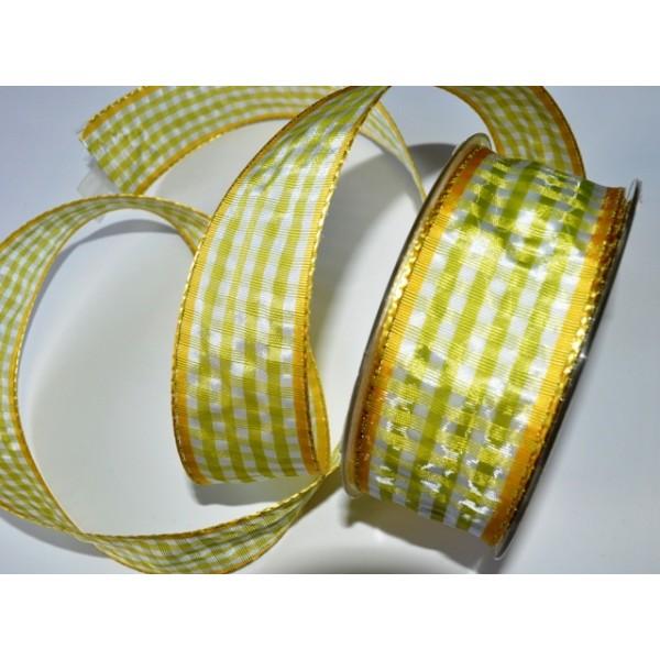 Cinta cuadros verdes y blancos con borde amarillo - Pérez Espinosa ...